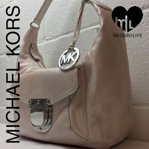 MICHAEL MICHAEL KORS Leather Hobo Shoulder Bag